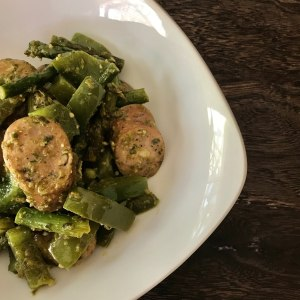 Chicken Sausage, Pesto and Veggies 2