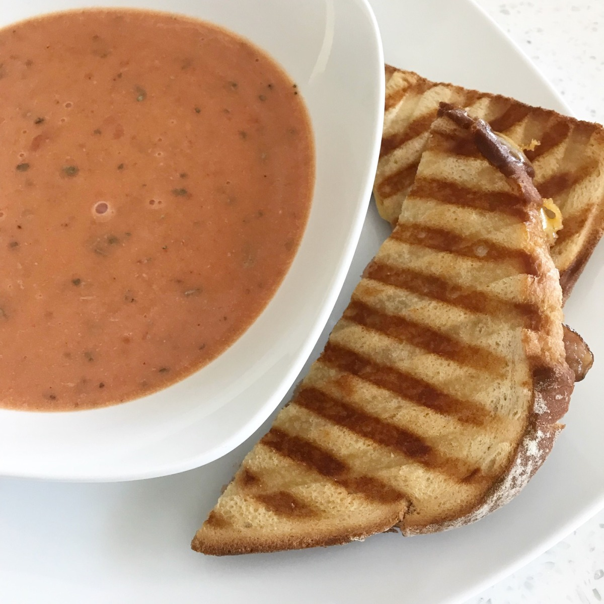 My Grownup Grilled Cheese and Tomato Soup