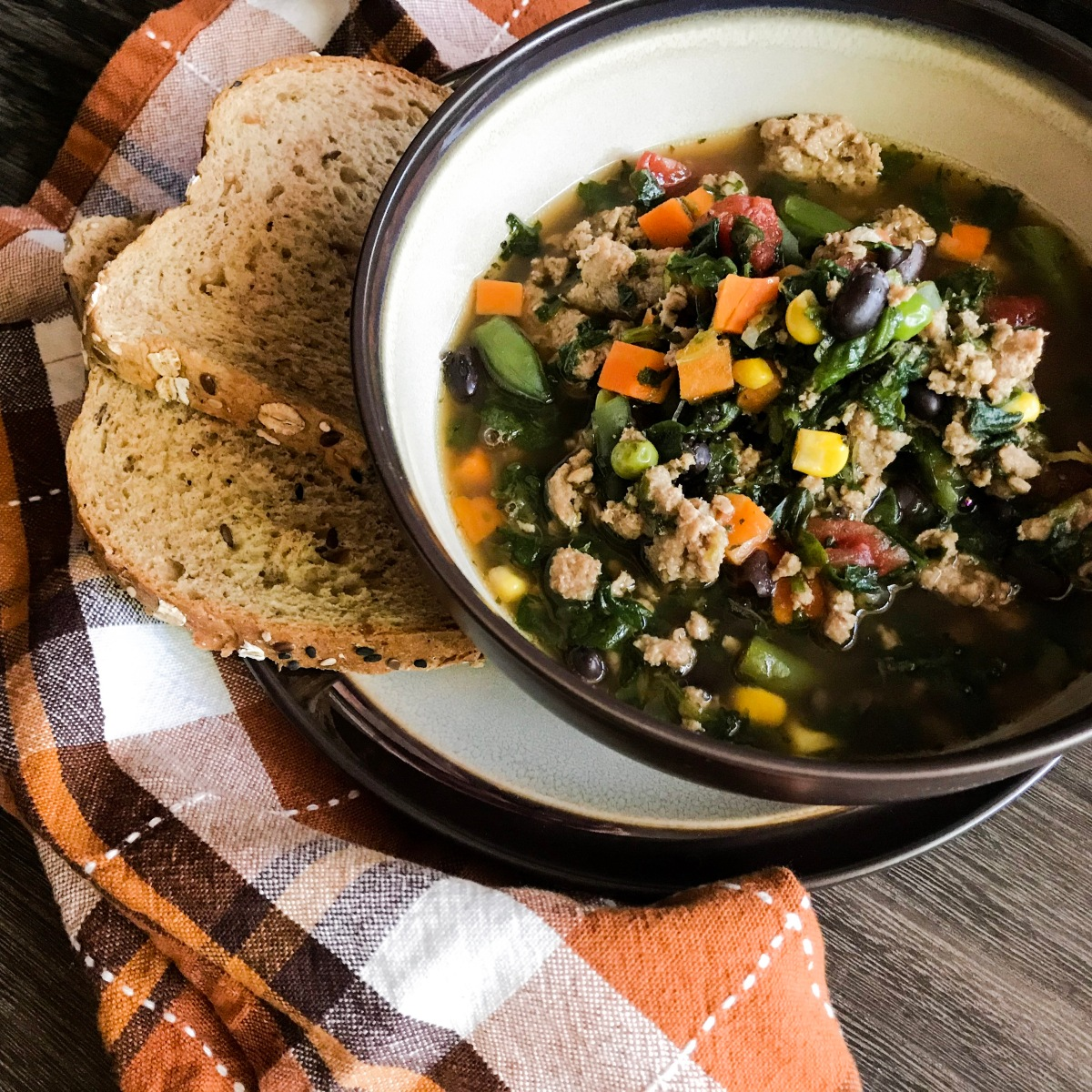 Loaded Turkey Veggie Soup (Zero points)